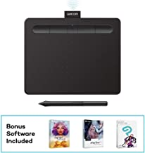 "$64 Get Wacom Intuos Wireless Graphics Drawing Tablet with 3 Bonus Software Included, 7.9"" x 6.3"", Black (CTL4100WLK0) (Renewed)"