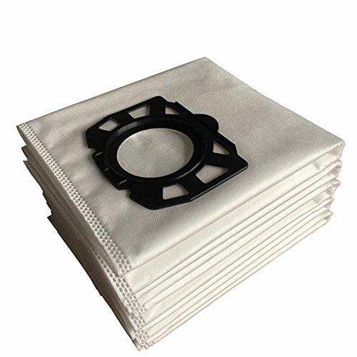 Clean Fairy Paquete de 10 bolsas de filtro de polar de repuesto compatibles con Karcher WD4 WD5 WD5 / P MV4 MV5 MV6 Reemplazo de aspiradoras en seco y húmedo para Karcher 2.863-006.0