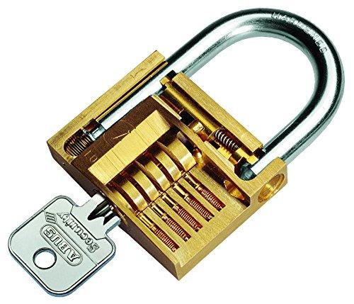 Abus 09049 85/70 Cadenas en Laiton de 70mm adapté aux intempéries 0005637, Or, 70