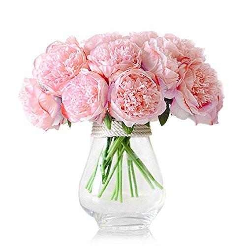ZUMUii - Ramo con 5 Flores Artificiales, peonias, Rose Profond