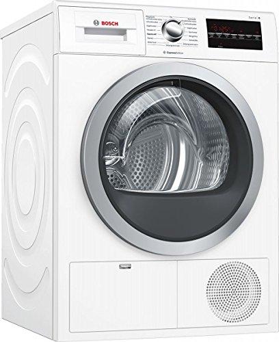 Bosch Serie 6 WTG864H1 - Wäschetrockner (Freistehend, Frontlader, Kondensation, Weiß, Drehregler, Berührung, Rechts)