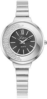 Lady Wristwatch, Women Lady Classic Quartz Alloy Case Analog Gift Jewelry Dress Round Wristwatch