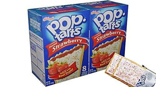 Kelloggs Poptarts frosted Strawberry 2x8 Stück