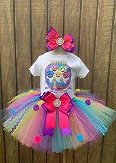 Handmade Baby Shark Birthday Tutu Outfit