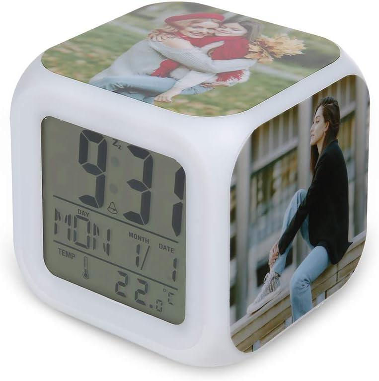 OPALSTOCK famous Personalized 100% quality warranty Photo Digita Alarm Displays Time Te Clock