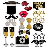 TK Gruppe Timo Klingler Photo Booth 2021 Silvester und Neujahr - Fotorequisiten und Fotoaccessoires - ideal für Partys - Deko - Dekoration (1x)