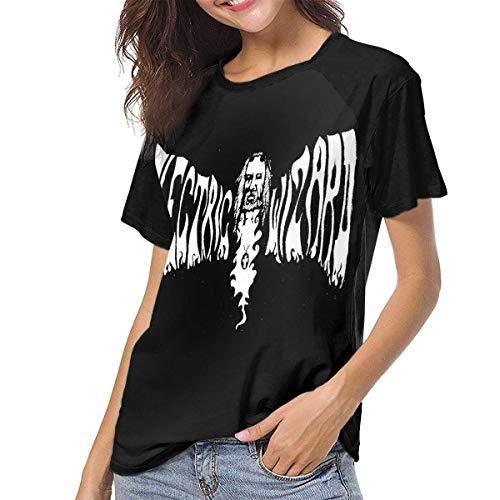 Electric Wizard Black Masses - Camiseta de b¨¦isbol de Moda para Mujer y Mujer, Manga Corta, Cuello Redondo, Camisetas ragl¨¢n Peque?as