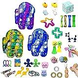 Zrolxe 39pcs Fidget Toys Sensory Fidget Toys Set Fidget Toys Anti-Anxiety Tools and Special Toys Fidget Toys Relieves Stress Squeeze Toy for Birthday Party(B)