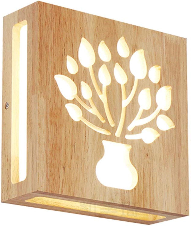 12W LED-Wandleuchte Holz Innen Wandlampe Moderne Kreativitt Wand-Beleuchtung Wandlichter Innenwand Leuchte für Wohnzimmer Schlafzimmer Flur Gang Warmweies Licht 21  21CM