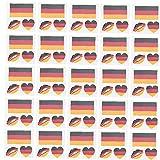 Mini-Aufkleber, Nationalflagge Tätowierung Dekor Fans-Party-self-Stick-Etiketten Fußballschale Tattoo Set Deutschland 25pcs
