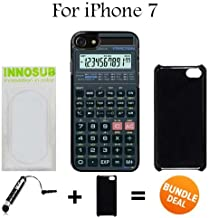 Innosub Custom iPhone 7 Case (Scientific Calculator ) Edge-to-Edge Plastic Black Cover with Shock and Scratch Protection | Lightweight, Ultra-Slim | Includes Stylus Pen