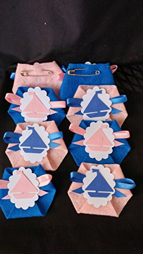 Baby Shower Game 24pack Dirty Diaper Game Blue Pink Sailor Boats Safety Pins Incl.