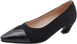 [VulusValas] レディース ファッション 美脚 パンプス ポインテッドトゥ ミドルヒール 靴 大きい/小さいサイズ