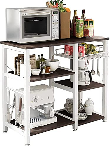 soges Estante de cocina Estante de horno microondas, Multi-función Utensilios de cocina Estantes de almacenamiento Negro W5S-Sch-SF