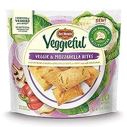 Del Monte Veggieful Veggie and Mozzarella Frozen Bites, 7.5-Ounce Bag with 10 Bites