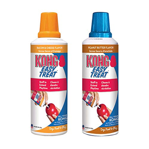 KONG - Easy Treat - Dog Treat Paste - 8 Ounce (2 Pack) - Peanut Butter with Bacon and Cheese