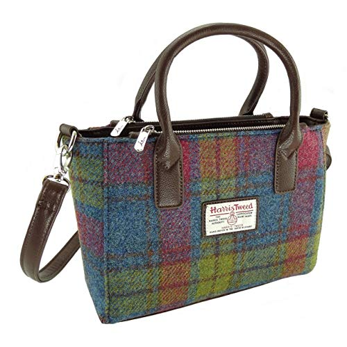 Glen Appin Damen Original Harris Tweed Kleine Beutel mit Schulterriemen in Verschiedenen Farben...
