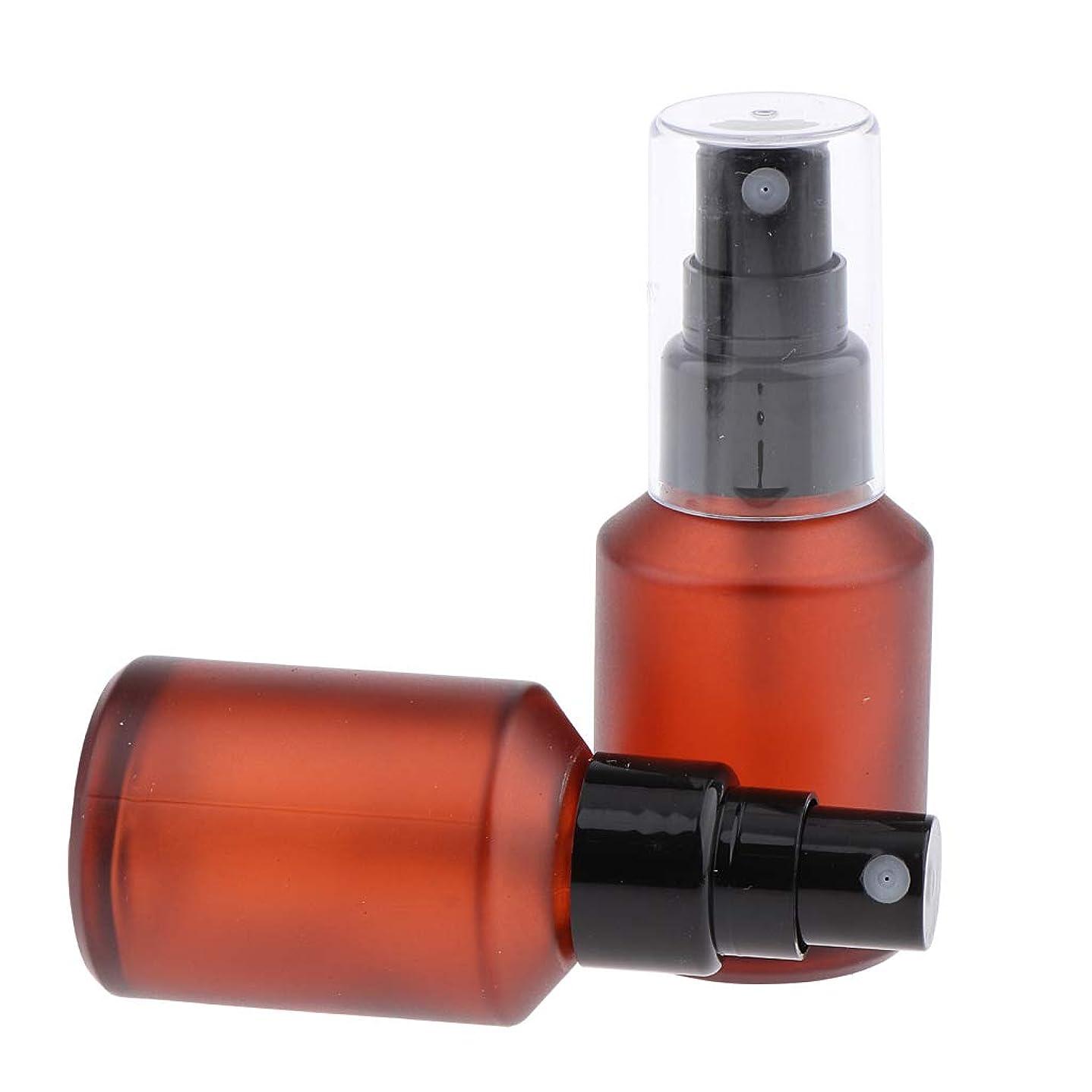 抵当若さディレイIPOTCH 2個 化粧ボトル 香水ボトル ポンプスプレーボトル ワインレッド ガラス瓶 4サイズ選べ - 30ml