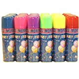Los Angeles Superstore 24 Party Streamer String Cans in Display Box - Silly Fun Party Novelty Item