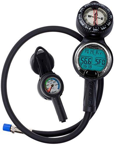 Cressi Sub Leonardo 3 Scuba Diving Computer Console with Pressure Gauge and Compass