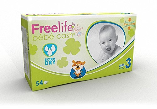 FreeLife Pannolini Extra Dry, Multicolore, 346