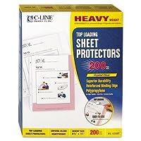 c-cline 62097Heavyweightポリプロピレンシートプロテクター、クリア、11x 81/ 2, 200/ BX