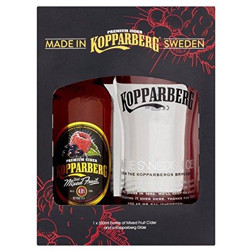 Kopparberg Glass and Mixed Fruit Bottle Gift Set (330 Millilitre Bottle of Mixed Fruit Koppaberg and 500 Millilitre Koppaberg Glass)