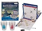 Bada Bing Juego de beber para fiestas, barcos para hundir, variante divertida con 10 chupitos, 2 lápices, plan de juego de batalla para 2 jugadores alternativa regalo JGA cumpleaños 19