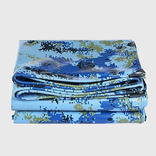 WZHIJUN Lona 1.8 × 4.8m Multipropósito Oceano Camuflaje Pesado Lona Alquitranada Impermeable Cámping Tienda Polytarp 19 Tamaños (Color : Camouflage, Size : 1.4×1.9m)