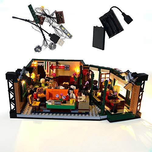 GEAMENT Jeu De Lumières pour Friends Central Perk TV Series - Kit D'éclairage LED Compatible avec Lego Ideas 21319 (Jeu Lego Non Inclus) (avec Instructions)
