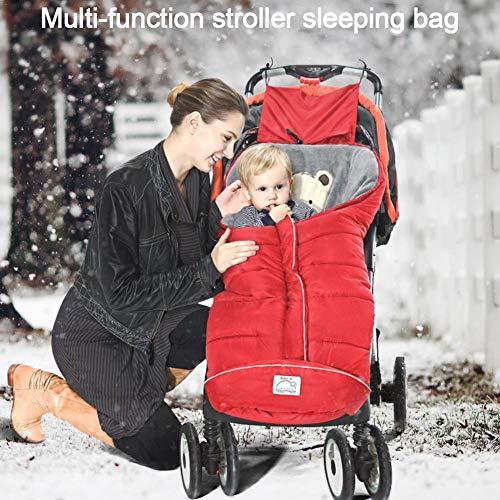 Winter-Fußsack für Kinderwagen,Babyfußsack Fußsack Babyschale mit Reißverschluss Kuschelsack Babydecke Kinderwagen waschbar verschließbarer Kopfteil