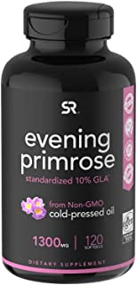 Evening Primrose Oil (1300mg) 120 Liquid Softgels ~ Cold-Pressed with No fillers or Artificial Ingredients ~ Non-GMO & Glu...