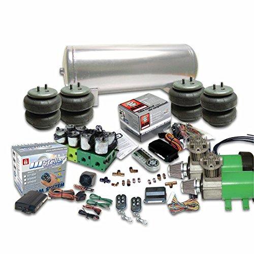 Helix 10202 Dual Compressor Air Bag Suspension System (w/Remote Alarm/Digital 8 Preset AirCommand Controller)