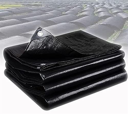 GZGLZDQ Lona Negra Impermeable PE Lona Gruesa Sombra Y Impermeable para Jardín Trampolín Coche Camping Jardinería Múltiples Especificaciones Disponibles (Color : Negro, Tamaño : 1mx4m)