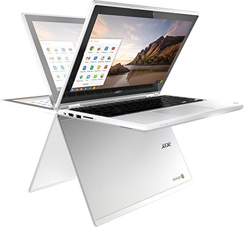 Newest Flagship Acer R11 11.6' IPS HD 2-in-1 Convertible Touchscreen Chromebook - Intel Quad-Core N3160 1.6GHz, 4GB RAM, 32GB SSD, 802.11ac, Bluetooth, HD Webcam, HDMI, USB 3.0, Chrome OS - White