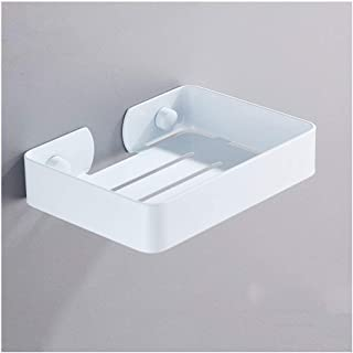 AINIYF Bathroom Shelf Towel Rail Bathroom Soap Rack Stainless Steel Multiple Drain Holes Rounded Corner Design Shower Cadd...