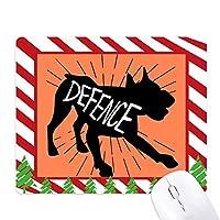 黒いロバの動物のシルエットのナチュラル ゴムクリスマスキャンディマウスパッド