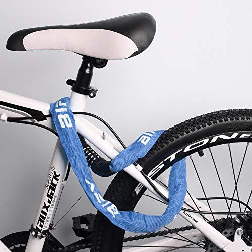 BIFY Fahrradschloss, Fahrradschloss Zahlen Stahlkettenglied 38mm x920mm 650g Kettenschloss für Fahrräd, Motorräd und Elektrofahrzeuge(Blau) - 6