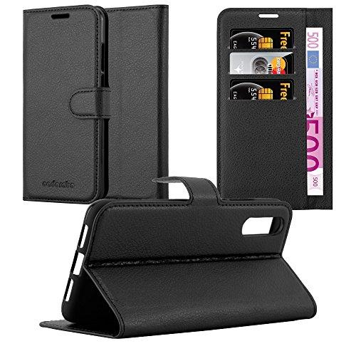 Cadorabo Funda Libro para Huawei P20 en Negro Fantasma - Cubierta Proteccíon con Cierre Magnético, Tarjetero y Función de Suporte - Etui Case Cover Carcasa
