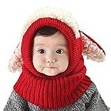 Cagoule Enfant Bébé Bonnet Cache Oreilles Chapeau Laine Tricoté Enfant Bonnet Cache Cou...