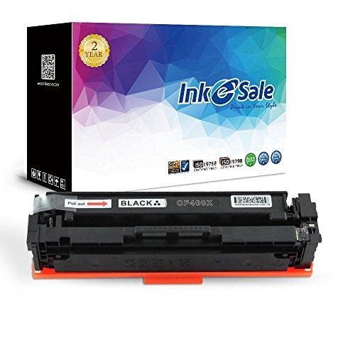 INK E-SALE 1x Kompatible Tonerkartuschen zu 201X (CF400X) CF400X für Color LaserJet Pro M252n, M252dw, MFP M277n, MFP M277dw, M274n, M274dw Drucker schwarz, ca. 2.800 Seiten