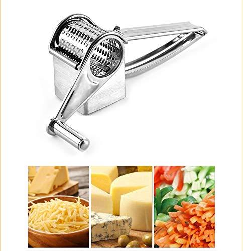 Main-coudés Râpe À Fromage Rotary Râpe À Fromage Ginger Cutter Chocolat Avec Tambour En Acier Inoxydable