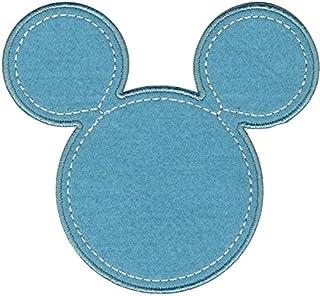 Simplicity Wrights–Cinta Decorativa Disney Mickey Mouse Mickey Silueta para Planchar, diseño Floral, Color Azul