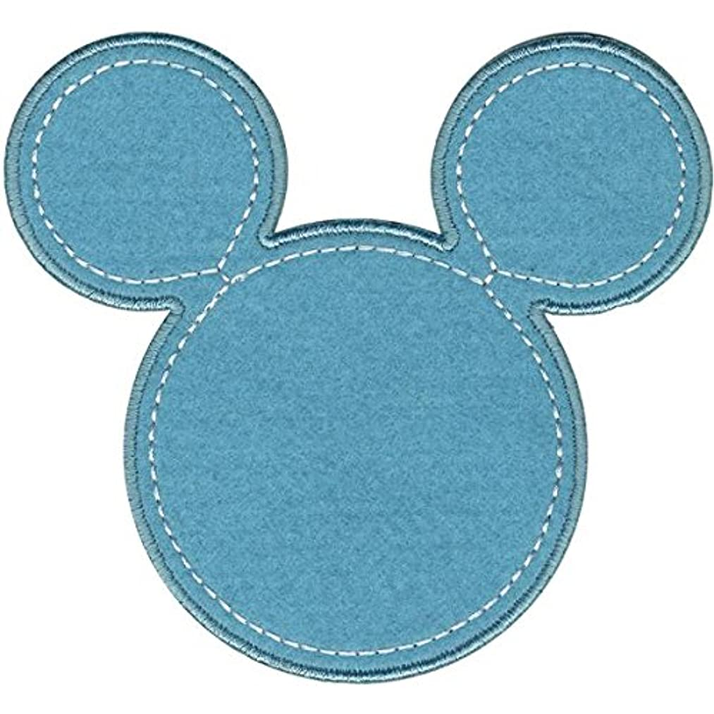 Wrights Disney Mickey Mouse Mickey Silhouette Iron-On Applique, Blue