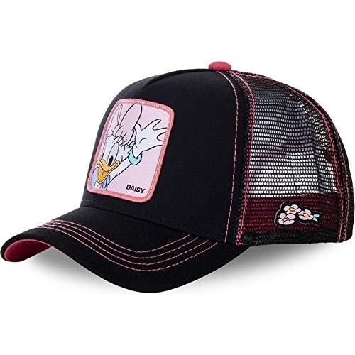 Gorra de bisbol Snapback de Anime de Dibujos Animados Hombres y Mujeres, Gorra de Camionero de Malla de pap Hip Hop-Daisy