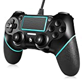ORDA Wired Controller Compatible with PC,with Motion Motors,Mini LED Indicator and Anti-Slip Design -Berry Blue