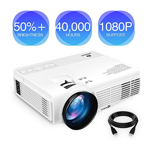 ViviMage C3 20%+Brightness Mini LED Projector 1080P HD Supported 170' Display Outdoor Movie Home...
