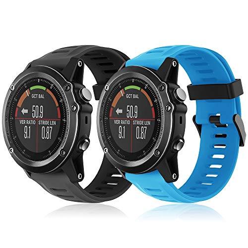 TOPsic Bracelet Fenix 3/Fenix 3 HR, Bracelet de Montre 26mm Bande de Remplacement en Silicone Bracelet pour Fenix 3/Fenix 3 HR/Fenix 5X/5X Plus/Fenix 6X/6X Pro