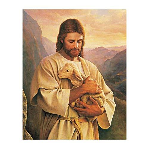 Puzzle 1000 Piezas Retrato de Jesús religioso Puzzle Educational Game Juguete para aliviar estrés Juego Intelectual Cerebro Desafío 50x75cm