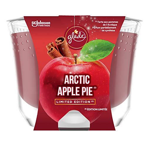 Glade (Brise) Langanhaltende Duftkerze im Glas, Arctic Apple Pie (McIntosh Apfel, Zimt, Vanille), bis zu 39 Stunden Brenndauer, 4er Pack (4 x 224g)
